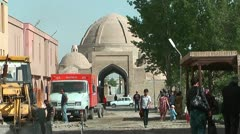 Restoration and renovation of historic city in bukhara uzbekistan - stock footage