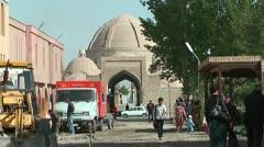 Restoration and renovation of historic city in bukhara uzbekistan Stock Footage