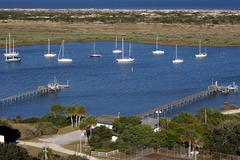 Saint Augustine bay Aerial view Stock Photos