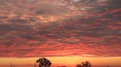 Red Sunrise Stock Footage