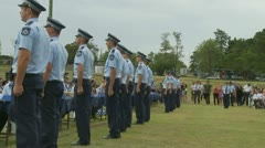 Queensland Police Graduation Ceromony (28) Stock Footage