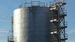 Refinery construction Stock Footage