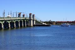 Saint Augustine Bay Bridge of Lions Stock Photos