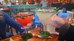 Happy Hour Margarita Cheers Stock Footage