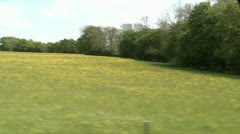 Stock Video Footage of Side Shot From Vintage Steam Train. English Countryside, Steam Clouds, Whistle