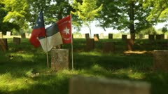Flags Confederate Cemetary Stock Footage