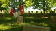 Stock Video Footage of Flags Confederate Cemetary
