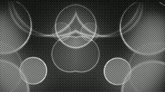 Kaleidoscope background half tone black and white dots - stock footage