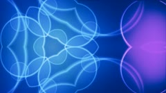 Kaleidoscope background blue and purple - stock footage