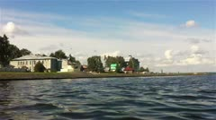 Time Lapse of City Quay, Petrozavodsk, Russia Stock Footage