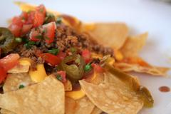 nachos upclose - stock photo