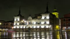 Architectural landmark time lapse at night in Spain. 4K. Apple ProRes. Loop. Stock Footage