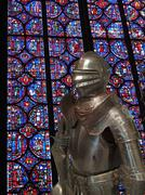 medieval knight in armor .. - stock photo