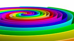 colorful whirl - stock photo