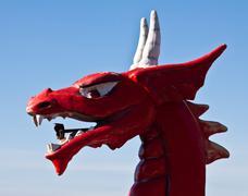 Red dragon head Stock Photos