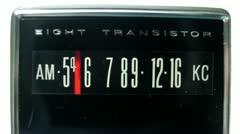 retro radio dial 4k - stock footage
