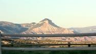 Colorado Mountain Crane Up Stock Footage