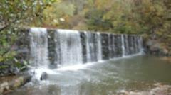 Waterfall Focus Rack Focus - stock footage