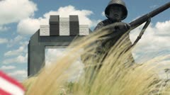National D-Day Memorial Overlord - stock footage