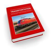 Transportation textbook - stock illustration
