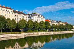 Belvedere Garden in Vienna, Austria - stock photo