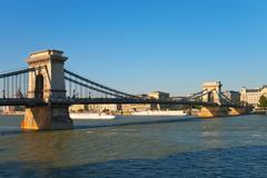 Chain Bridge in Budapest, Hungary Stock Photos
