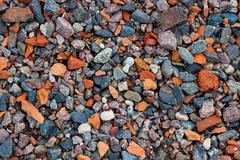 Natural gravel texture - stock photo