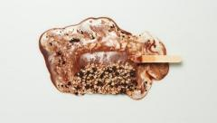 Ice cream bar melting Stock Footage