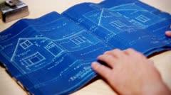 Home Blueprints - stock footage
