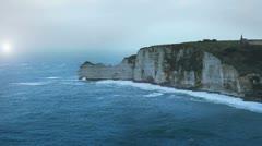 Etretat cliff - 08 Stock Footage