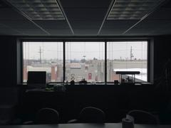 View of an office window Stock Photos