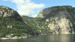 Norway Lysefjord cliffs 1s Stock Footage