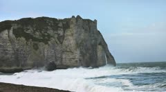 Etretat cliff - 01 Stock Footage