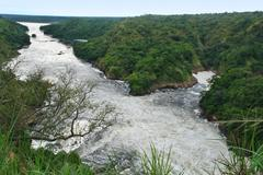 Stock Photo of river nile around murchison falls