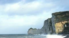 Etretat cliff - 02 Stock Footage