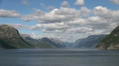 Norway Lysefjord pan & zoom out s Stock Footage