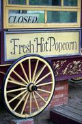 Old popcorn stand - stock photo