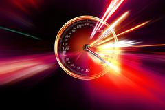 Excessive speed on the speedometer Stock Illustration
