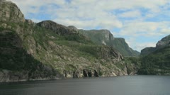 Norway timelapse view of mountains above Lysefjord s Stock Footage