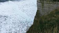 Etretat cliff - 06 Stock Footage