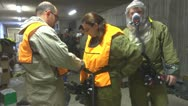 Stock Video Footage of hazmat protection suits Nuclear, biological, chemical suits