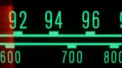 Radio dial vintage glowing 4k Stock Footage
