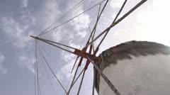 History & culture, The Mykonos windmills tilt reveal Stock Footage