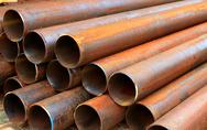 Stock Photo of steel pipes for mechanical engineering