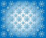 Stock Illustration of stars in the shape of snowflakes
