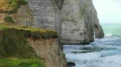 Etretat cliff - 04 Stock Footage
