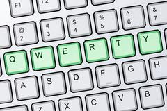 qwerty keyboard - stock photo
