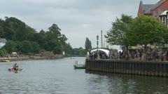 Viking Boat Race Stock Footage