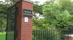 Manor Gardens Stock Footage