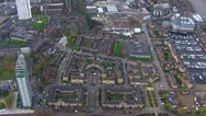 Aerial view over a district of London Stock Footage